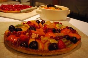 Tarte aux fruits maison au Mas Nouveau