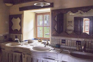 La salle de bain du gîte du Mas Nouveau